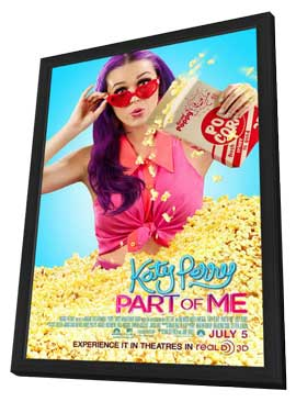 Katy Perry: Part of Me 3D - 11 x 17 Movie Poster - Style B - in Deluxe Wood Frame