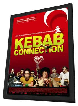 Kebab Connection - 11 x 17 Movie Poster - German Style A - in Deluxe Wood Frame