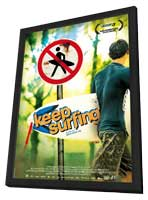 Keep Surfing - 11 x 17 Movie Poster - German Style A - in Deluxe Wood Frame