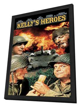 Kelly's Heroes - 11 x 17 Movie Poster - Style C - in Deluxe Wood Frame