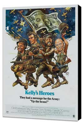 Kelly's Heroes - 11 x 17 Movie Poster - Style F - Museum Wrapped Canvas