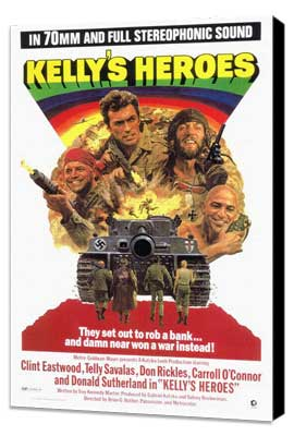 Kelly's Heroes - 27 x 40 Movie Poster - Style A - Museum Wrapped Canvas