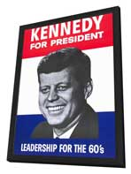 Kennedy For President - 11 x 17 Movie Poster - Style A - in Deluxe Wood Frame