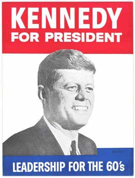 Kennedy For President - 27 x 40 Movie Poster - Style B
