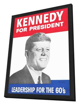 Kennedy For President - 11 x 17 Movie Poster - Style B - in Deluxe Wood Frame