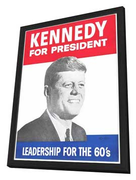 Kennedy For President - 27 x 40 Movie Poster - Style B - in Deluxe Wood Frame