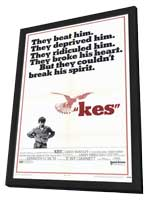 Kes - 11 x 17 Movie Poster - Style B - in Deluxe Wood Frame