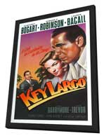 Key Largo - 11 x 17 Movie Poster - Style K - in Deluxe Wood Frame