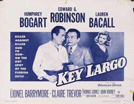 Key Largo - 27 x 40 Movie Poster - Style K