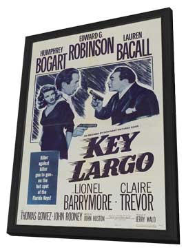 Key Largo - 27 x 40 Movie Poster - Style I - in Deluxe Wood Frame