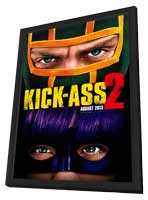Kick-Ass 2 - 27 x 40 Movie Poster - Style A - in Deluxe Wood Frame