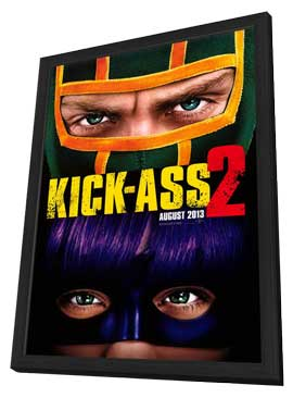 Kick-Ass 2 - 11 x 17 Movie Poster - Style A - in Deluxe Wood Frame