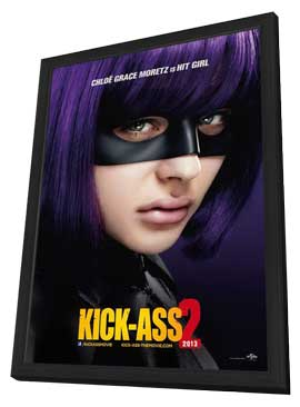 Kick-Ass 2 - 27 x 40 Movie Poster - Style C - in Deluxe Wood Frame