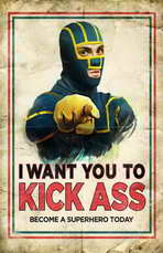 Kick-Ass - 11 x 17 Movie Poster - Style K