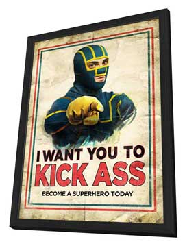 Kick-Ass - 11 x 17 Movie Poster - Style K - in Deluxe Wood Frame