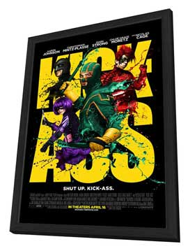 Kick-Ass - 27 x 40 Movie Poster - Style I - in Deluxe Wood Frame