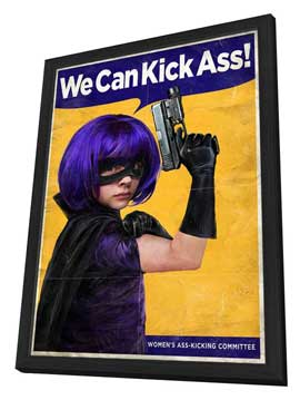 Kick-Ass - 27 x 40 Movie Poster - Style Q - in Deluxe Wood Frame