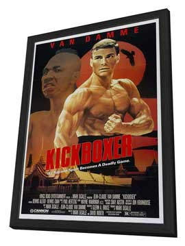 Kickboxer - 27 x 40 Movie Poster - Style A - in Deluxe Wood Frame