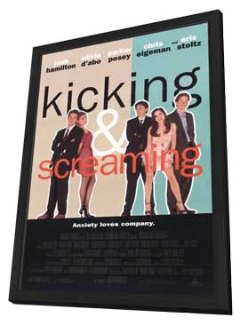 Kicking and Screaming - 11 x 17 Movie Poster - Style A - in Deluxe Wood Frame