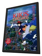 Kiki's Delivery Service - 11 x 17 Movie Poster - Swedish Style A - in Deluxe Wood Frame