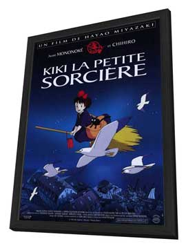 Kiki's Delivery Service - 30 x 40 Movie Poster - French Style A - in Deluxe Wood Frame