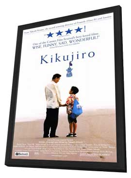 Kikujiro - 27 x 40 Movie Poster - Style A - in Deluxe Wood Frame