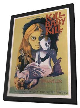 Kill, Baby, Kill - 11 x 17 Movie Poster - Style A - in Deluxe Wood Frame