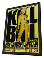 Kill Bill Vol. 1 - 11 x 17 Movie Poster - Japanese Style A - in Deluxe Wood Frame