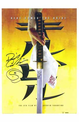 Kill Bill Vol. 1 - 11 x 17 Movie Poster with David Carradine Signature