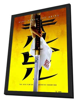 Kill Bill Vol. 1 - 27 x 40 Movie Poster - Style C - in Deluxe Wood Frame