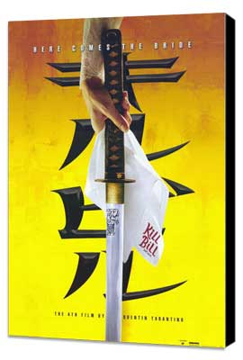Kill Bill Vol. 1 - 11 x 17 Movie Poster - Style E - Museum Wrapped Canvas