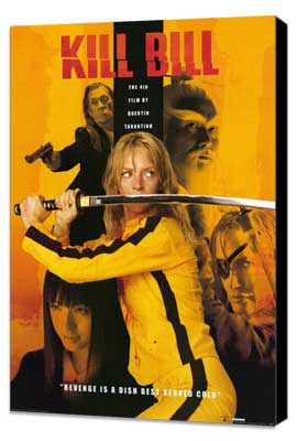 Kill Bill Vol. 1 - 11 x 17 Movie Poster - Style F - Museum Wrapped Canvas