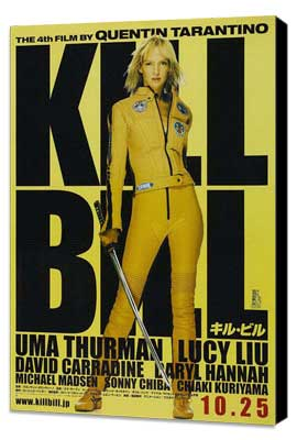 Kill Bill Vol. 1 - 11 x 17 Movie Poster - Japanese Style A - Museum Wrapped Canvas
