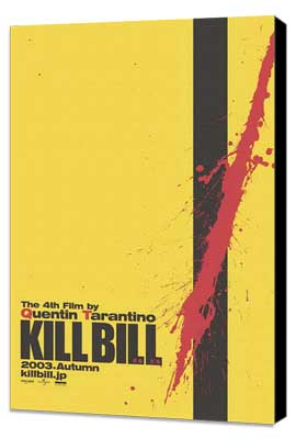 Kill Bill Vol. 1 - 11 x 17 Movie Poster - Japanese Style B - Museum Wrapped Canvas