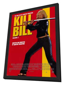 Kill Bill, Vol 2 - 27 x 40 Movie Poster - Style C - in Deluxe Wood Frame