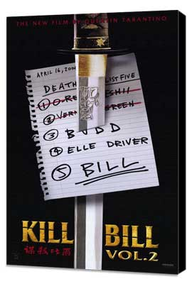 Kill Bill, Vol 2 - 11 x 17 Movie Poster - Style A - Museum Wrapped Canvas