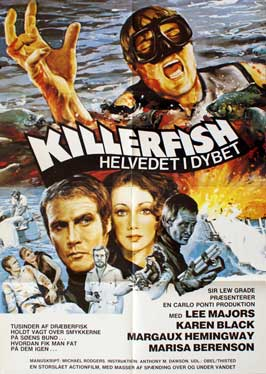 Killer Fish - 11 x 17 Movie Poster - Danish Style A