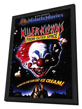 Killer Klowns from Outer Space - 11 x 17 Movie Poster - Style C - in Deluxe Wood Frame