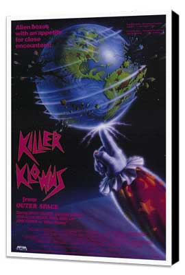 Killer Klowns from Outer Space - 11 x 17 Movie Poster - Style A - Museum Wrapped Canvas