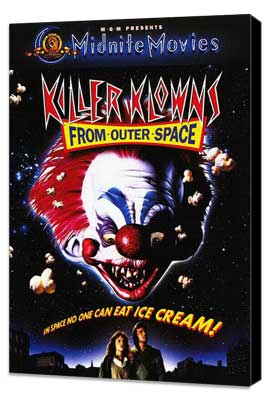 Killer Klowns from Outer Space - 11 x 17 Movie Poster - Style C - Museum Wrapped Canvas