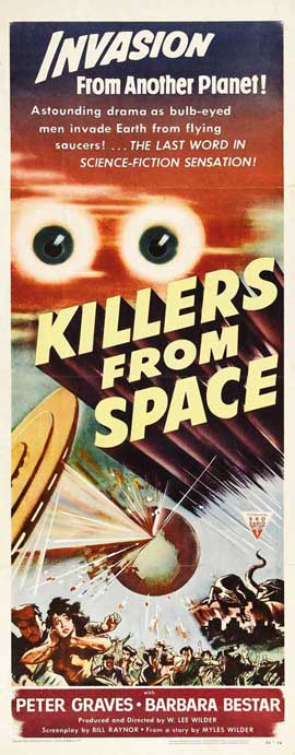Killers from Space - 14 x 36 Movie Poster - Insert Style A
