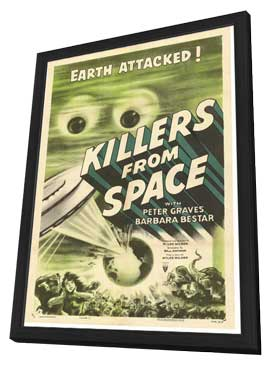 Killers from Space - 11 x 17 Movie Poster - Style A - in Deluxe Wood Frame