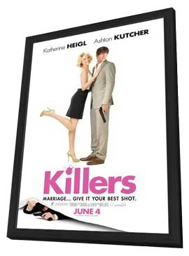 Killers - 11 x 17 Movie Poster - Style D - in Deluxe Wood Frame
