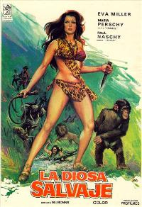 Kilma Queen of the Jungle - 11 x 17 Movie Poster - Spanish Style A
