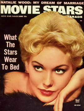 Kim Novak - 11 x 17 Movie Stars Parade Magazine Cover 1950's