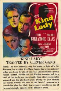 Kind Lady - 11 x 17 Movie Poster - Style A