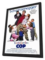 Kindergarten Cop - 27 x 40 Movie Poster - Style A - in Deluxe Wood Frame