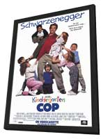 Kindergarten Cop - 11 x 17 Movie Poster - Style B - in Deluxe Wood Frame