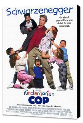 Kindergarten Cop - 27 x 40 Movie Poster - Style A - Museum Wrapped Canvas