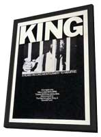 King: A Filmed Record... Montgomery to Memphis - 11 x 17 Movie Poster - Style A - in Deluxe Wood Frame